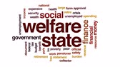 федеральный : Welfare state animated word cloud, text design animation. Стоковые видеозаписи