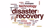 zálohování : Disaster recovery animated word cloud, text design animation. Dostupné videozáznamy