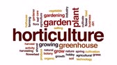 greenhouse : Horticulture animated word cloud, text design animation.