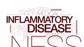 беспорядок : Inflammatory disease animated word cloud, text design animation. Kinetic typography