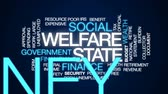 bem estar : Welfare state animated word cloud, text design animation. Vídeos