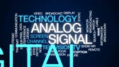 matbaacılık : Analog signal animated word cloud, text design animation.