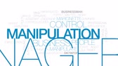 loutka : Manipulation animated word cloud, text design animation. Kinetic typography.