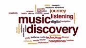 speaker : Music discovery animated word cloud, text design animation. Stock Footage