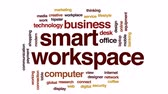 caderno : Smart workspace animated word cloud, text design animation. Stock Footage