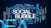 bublina : Social bubble animated word cloud, text design animation.