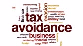 ilegal : Tax avoidance animated word cloud, text design animation.