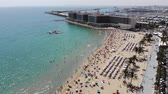 napernyő : 4K Aerial footage of the stunning beach at Alicante in Spain, taken with a drone in 2018
