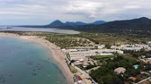 Here we have stunning aerial 4k Footage of St George South in Corfu Greece 動画素材