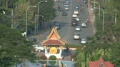 Bird view of Vientiane Laos from Patuxai  Stock Footage