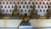 Zoom in on a Buddha statue in Wat Si Saket in Vientiane Laos