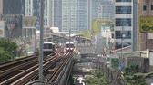 BTS railway station in Bangkok Thailand Stock Footage