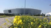 marchs financiers : KALININGRAD, RUSSIA. A view of Baltic Arena stadium for holding games of the FIFA World Cup of 2018 in sunny day