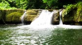 clean : Landscape video, Chet Sao Noi Waterfall National Parkl in rainforest at Saraburi province, Thailand