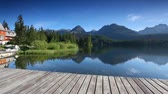residência : Mountain lake in National Park High Tatra. Strbske pleso, Slovakia, Europe. HD video (High Definition)