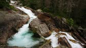 fluido : Mountain river in National Park High Tatra. Studené doliny, Slovakia. HD video (High Definition)