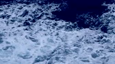 Rapid sea while sailing ship. Dramatic and picturesque scene. Artistic HD movie. Beauty world. Wideo