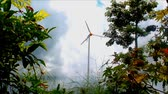 em pé : Wind turbine in green garden Stock Footage