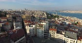 golden : ISTANBUL, TURKEY - 4 JUNE 2016: Sunset panorama of the city of Istanbul from Galata Tower: JUNE 6, 2016 in Istanbul, Turkey
