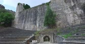 Ancient Rumeli Fortress in Istanbul, on the shores of the Bosphorus Strait Archivo de Video