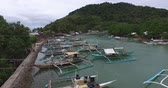busuanga : El NIDO, PHILIPPINES - JANUARY. 1: The port and the boats in the fishing village of El Nido JANUARY. 1, 2016 in El Nido Philippines.