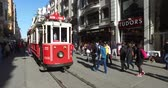turks : ISTANBUL, TURKEY - APRIL 3, 2016: Istiklal Street pedestrian street of the city with an old tram and street musicians shops and restaurants: APRIL 3, 2016 in Istanbul, Turkey