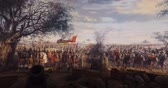 захват : ISTANBUL, TURKEY - JUNE 6, 2016: Fall of Constantinople in 1453. Captured by Mehmet. 1453 Panorama Museum, Istanbul, Turke Стоковые видеозаписи
