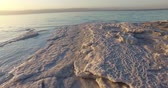 Средний Восток : Dead Sea salt deposits stones white crystals