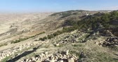 jordanian : Panoramic view of Mount Nebo on the land of promise