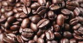 kahverengi : Roasted coffee bean in rotation
