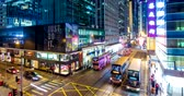 acelerar : Central, Hong Kong, 10 April 2018:- Hong Kong traffic at night Vídeos