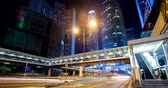 movimento borrado : Central, Hong Kong, 10 April 2018:- Hong Kong traffic at night Vídeos