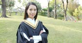 bacharel : Asian Woman get graduation