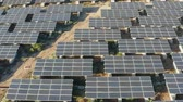 бизнес : Renewable Energy Solar Power Plant Solar Panels 4k aerial view