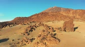 irreal : an extraterrestrial landscape in the area around the crater of the volcano Teide Tenerife