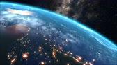 Sunrise over the Earth, 3d animation.