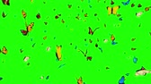 monarcha : Butterflies Flying on a Green Background. 3d animation, 4K