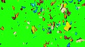 бабочки : Butterflies Flying on a Green Background. 3d animation, 4K