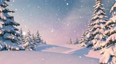 wintertime : Winter Forest, Christmas Background. Beautiful 3d animation, seamless looping, 4K Stock Footage