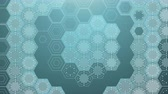 petek : Digital Hexagonal Background, Beautiful 3d animation. Seamless Looping 4K Stok Video