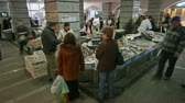 fishmarket : People looking selling fish and buying it at the fish market.