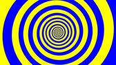 spirally : The hypnotizing spiral turining with the yellow and blue colours changing. Stock Footage