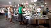 fishmarket : Buyers and sellers on the fishmarket.