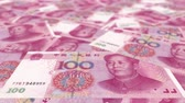 despesas : 4K Banknote Field 100 Cny Stock Footage