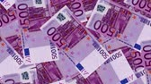 recession : 4K Banknote Field 500 Euro Stock Footage