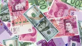 bedienung : 4K Banknote Field Stock Footage