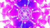 Colorful Looped Neon Crystal Background
