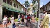 глэм : SINGAPORE - CIRCA FEBRUARY, 2015: Kampong Glam is the ethnic area, it is called the Muslim Quarter. A very popular area to visit from tourists and locals alike.