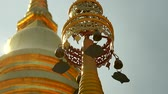 lente : Golden top of Pagoda in thailand