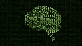 chipsy : Seamless looping animation of a brain circuit board. 16-Bit. 4K UHD. Wideo